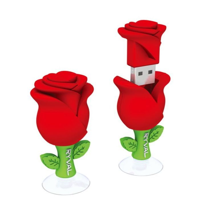 Very Beautiful Red Rose Design USB Flash Drive