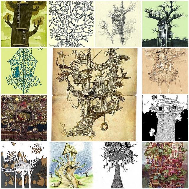 Treehouse art mosaic on Flickr