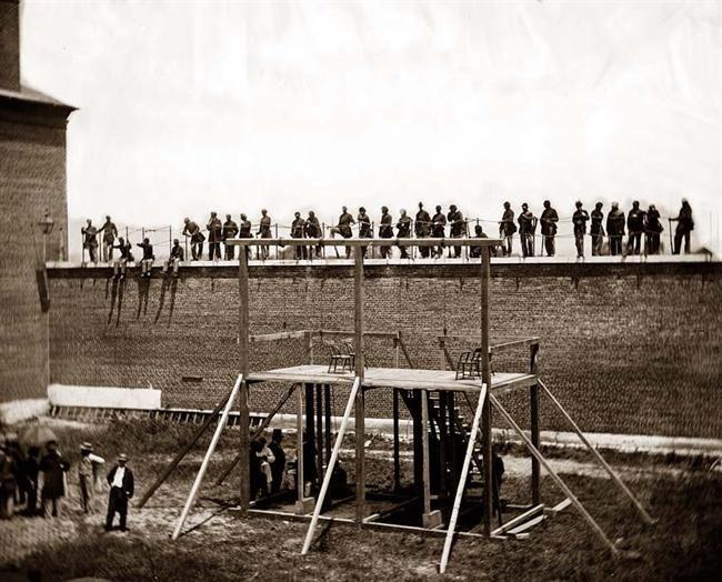 American Civil War Photos: Execution of the Abraham Lincoln Conspiritors