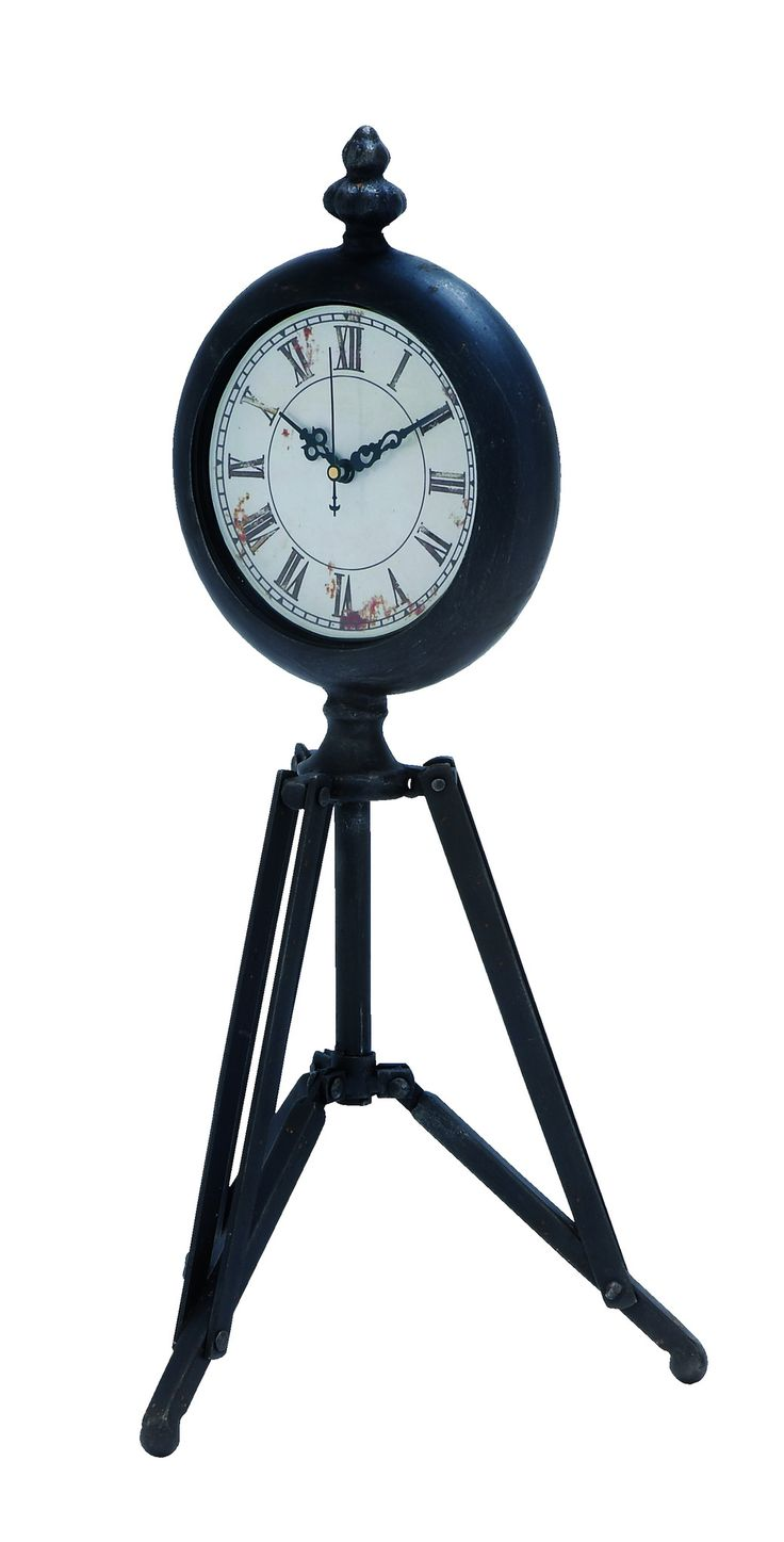 this metal tripod clock is a wonderful artifact for your home the metal clock features a tripod stand that is joined to the clock