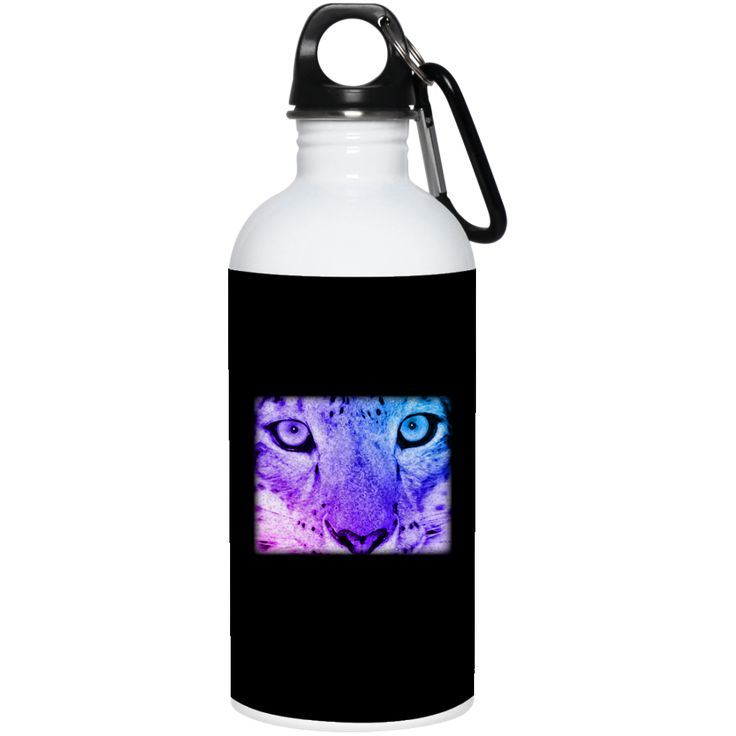 Snow Leopard Spirit Guide 20 oz Stainless Steel Water Bottle