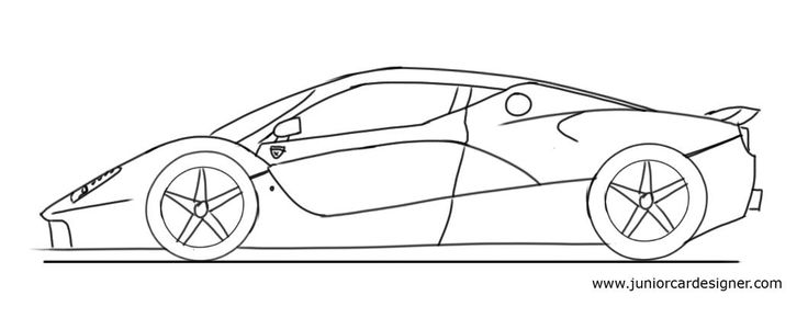 coloring pages car back view - photo#11
