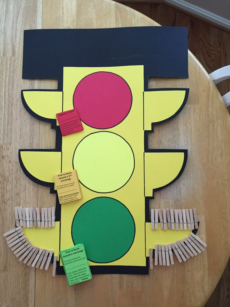 Behavior stoplight with tickets.  5th grade.                                                                                                                                                                                 More