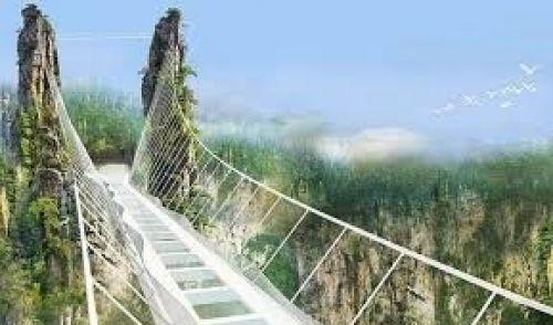 S-a deschis cel mai mare pod de sticlă din lume. CUM ARATĂ...