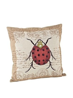 57% OFF Saro Lifestyle Natural Ladybug Square Pillow