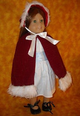 Doll Cape from Santa Hat #tutorial #americangirl #sewingDollar Stores Finding, Dollar Stores Crafts, Santa Hats, Girls Dolls, American Dolls, Dolls Clothing, Capes From Santa, Dolls Capes From, American Girls