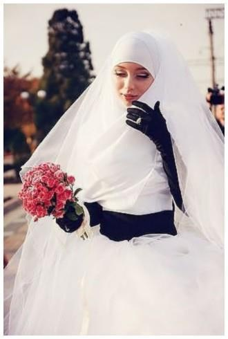 hijab wedding so beautiful an pure