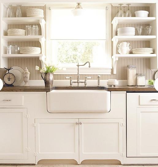 White Kitchens With Farm Sinks