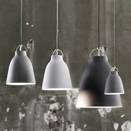 lightyears carravaggio matt pendant light in light or dark grey or white