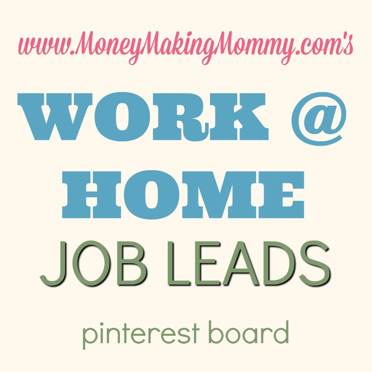 67 Best images about Work at Home Job Leads on Pinterest   Amazing ...