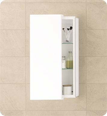 ronbow sliding door x bathroom wall cabinet in glossy white