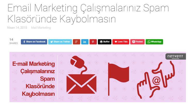 E-mailleriniz spam klasörüne düşmasin. E-mail marketing kampanyalarınızın başarıya ulaşması için izlemeniz gereken adımlar. Yazıyı okumak için http://www.netvent.com #email #pazarlama