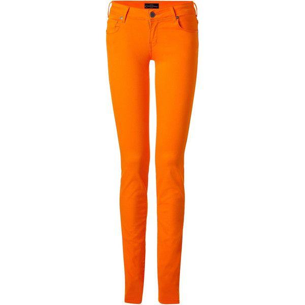 CIMARRON Jackie Orange Skinny Leg Pants ($135) ❤ liked on Polyvore