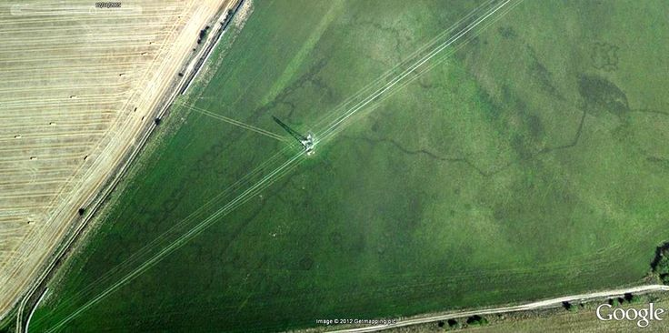 Perham Down Overlay on aerial (Hospital Trenches?) (Tony Hoare)
