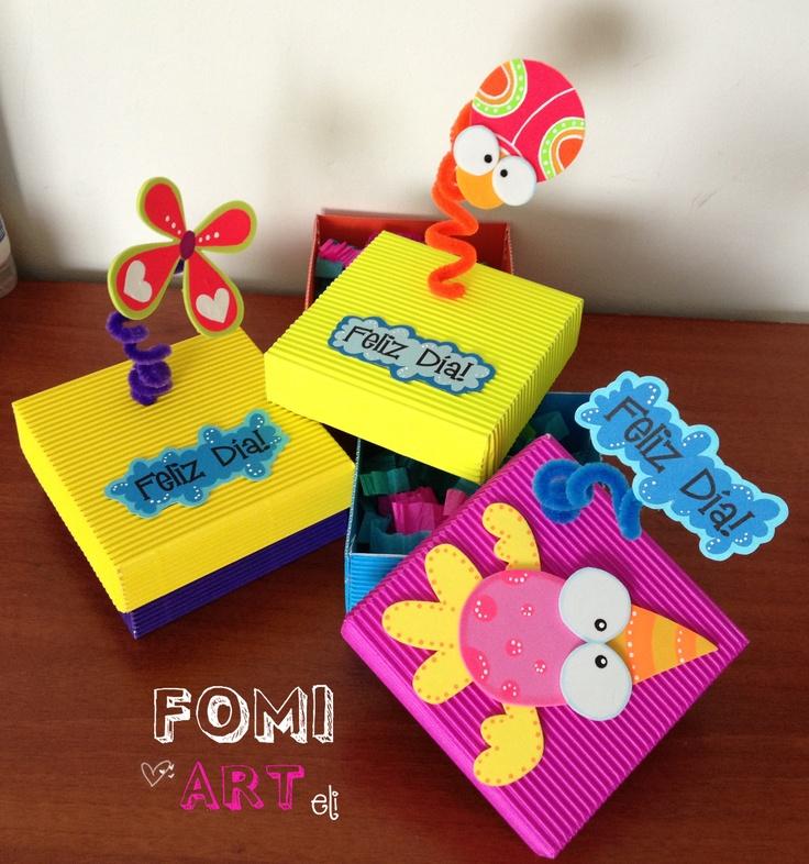 Cajas decoradas con fomi