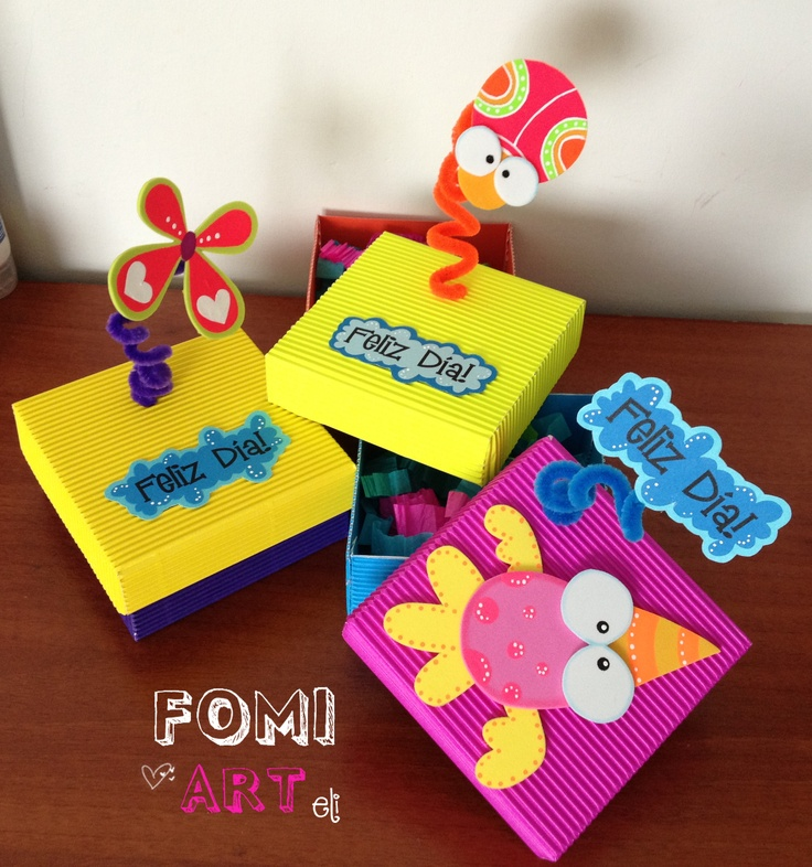 Cajas decoradas con fomi diy goma eva pinterest - Cajas para manualidades ...