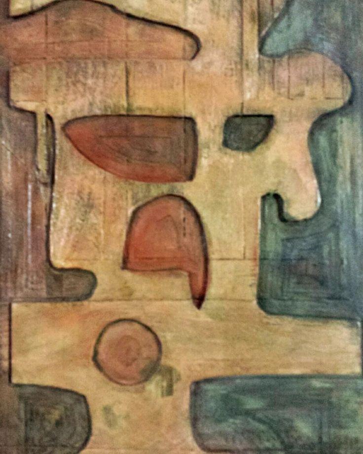 Orgánica (2009) detalle  Bajo relieve en madera reciclada y pigmentos    //   Organic (2009) detail Low relief in recycled wood and pigments  #bajorelieve#madera#reciclaje#abstracto#acrílico