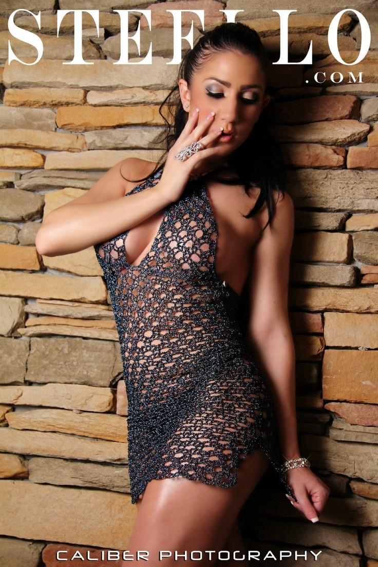 blue crochet halter dress  www.steello.com