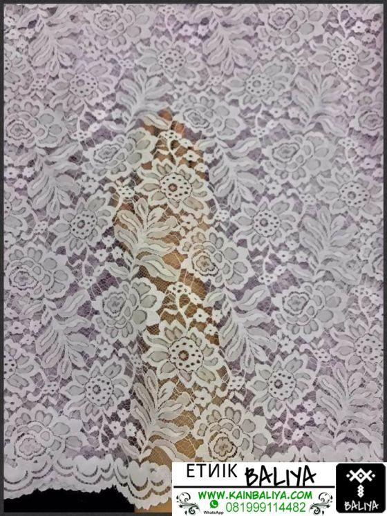 kain Kebaya semi Prancis Terbaru Warna Ungu