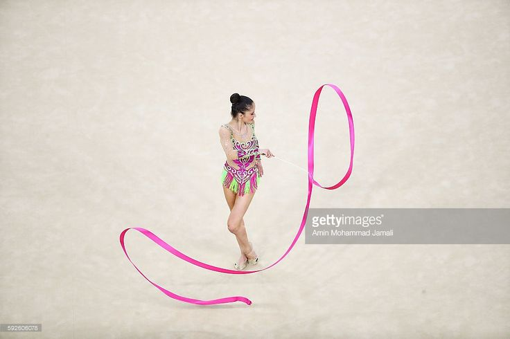 Neviana Vladinova of Bulgaria competes during the Women's Individual All-Around Rhythmic Gymnastics Final on Day 15 of the Rio 2016 Olympic Games at the Rio Olympic Arena on August 20, 2016 in Rio de Janeiro, Brazil.