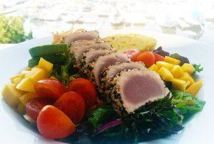 Anothony's Tombo Ahi Salad, Creamy sesame dressing.