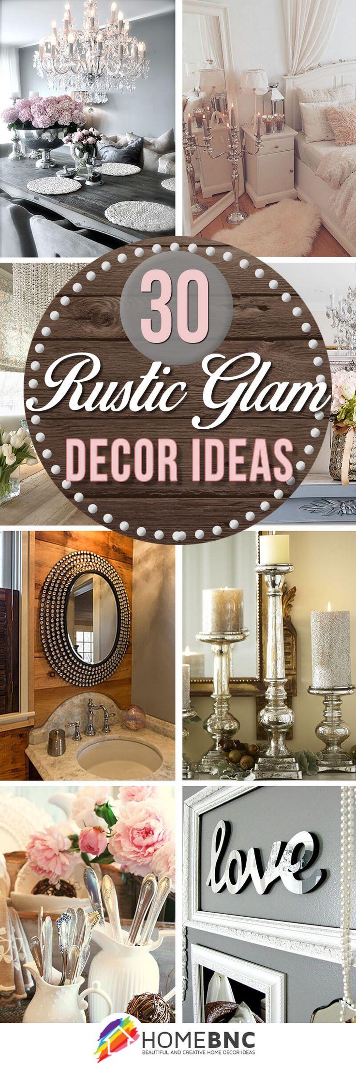 Rustic chic bathroom - 30 Elegant And Antique Inspired Rustic Glam Decorations