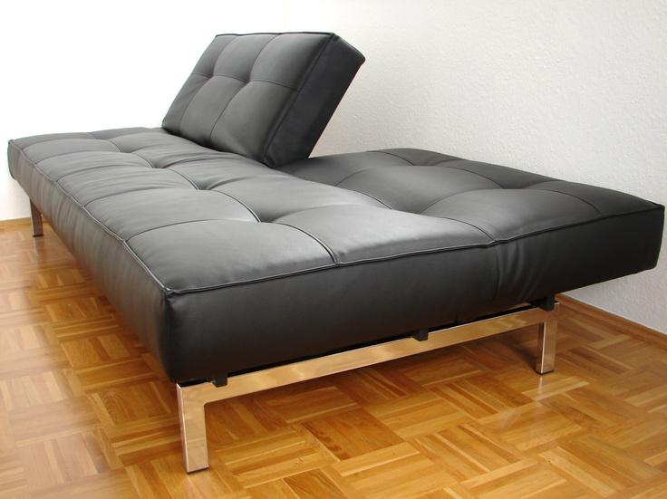 Innovation Splitback Sofa Textilleder Mit Verstellbarer Lehne 115 X 210 Cm Top Zustand Zu