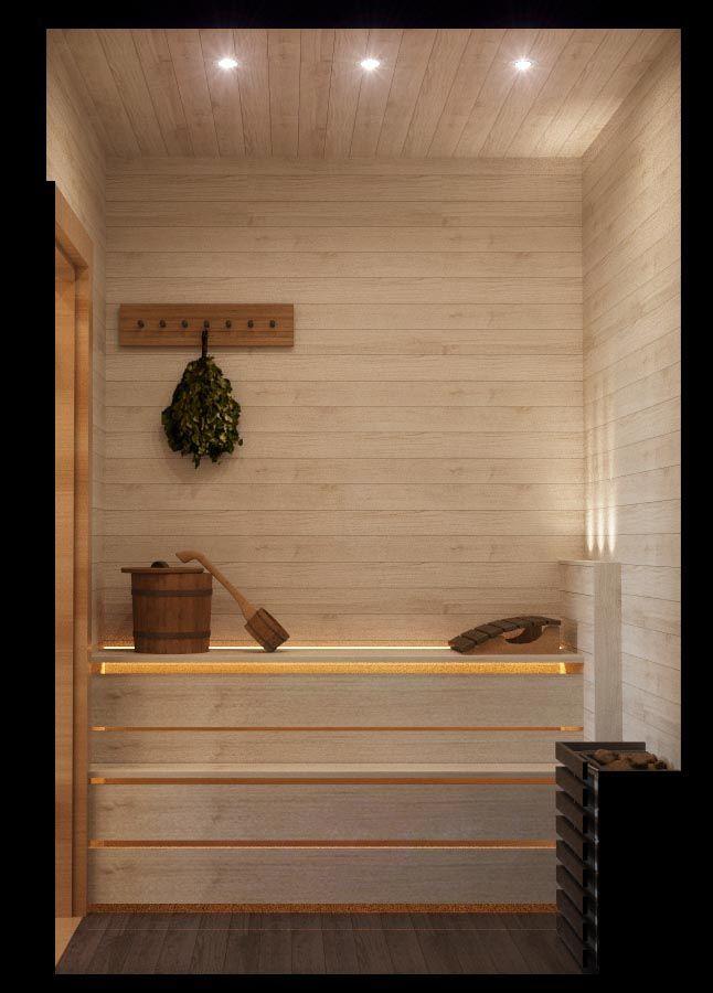 Интерьер сауны в проекте тренажерного зала, г.Красноярск. Оформление нежилого помещения. Дизайн-проекты удаленно: 8-929-335-98-40