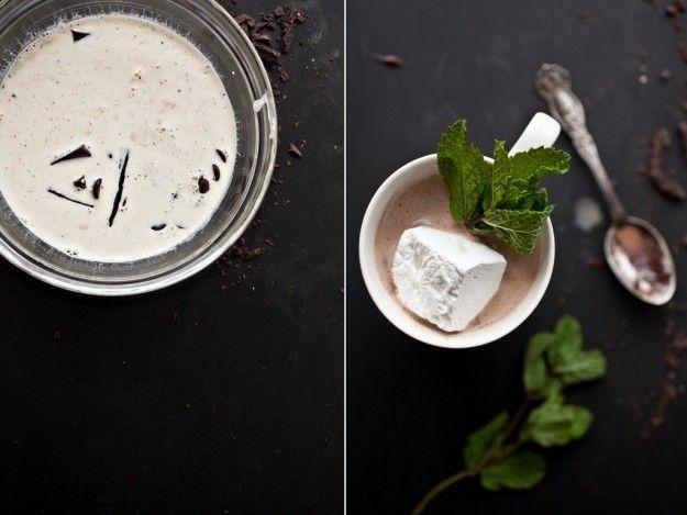 Fresh mint hot chocolate | CHEERS! | Pinterest