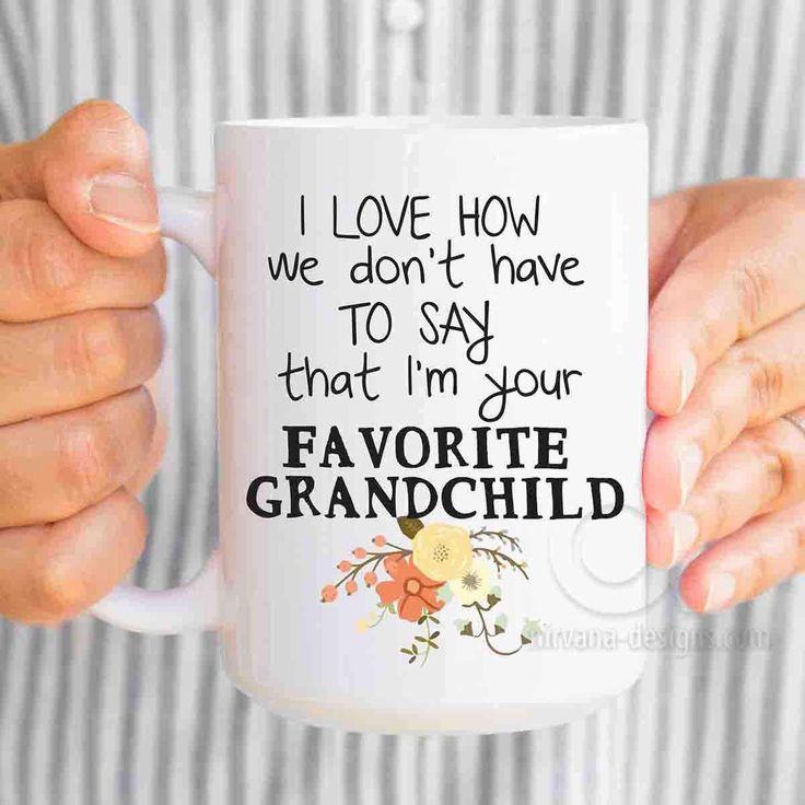 Favorite grandchild mug, mothers day gift for grandma, birthday gifts for grandma, grandmother gift, new grandma, gifts for grandma MU556 by artRuss on Etsy