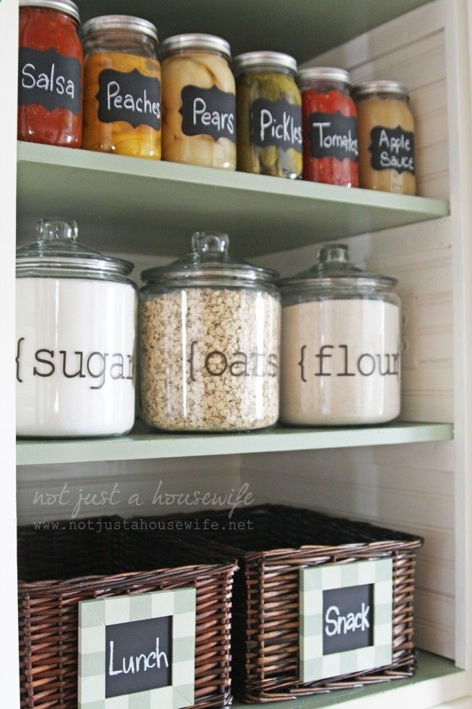pantry, so organized and cute
