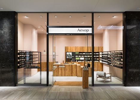 Torafu Architects uses Japanese cedar columns for fifth Aesop shop interior