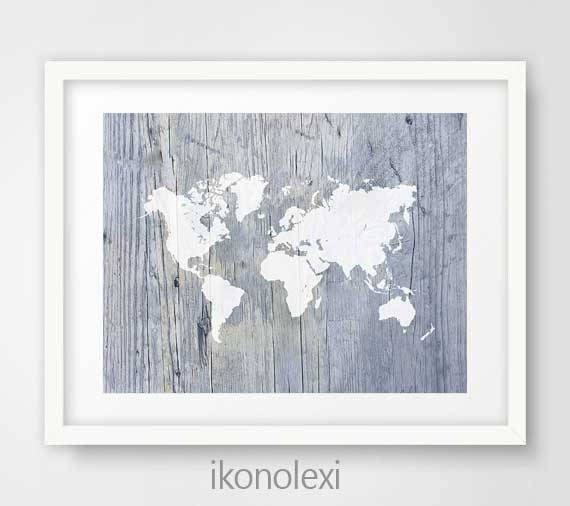 World map art, cool posters, world map print, map of the world, antique world map, world map poster, office wall decor, weathered wood map by Ikonolexi on Etsy