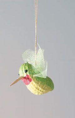 Cute little hummingbird ornament