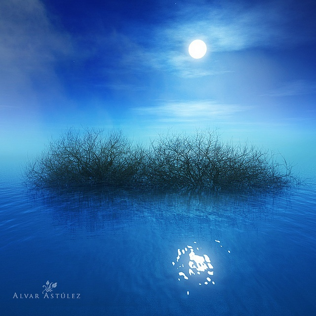The moon of the lake (II) By Alvar Astúlez