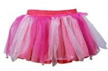 Tiny bells on this pixie skirt will ensure you hear your little pixie playing in the garden.  The multi-coloured skirt with elasticised waistband is made from neat layers of netting with sparkle detail to achieve a real pixie look!  Finish the look with the matching Sparkling Pixie Top in Hot Pink