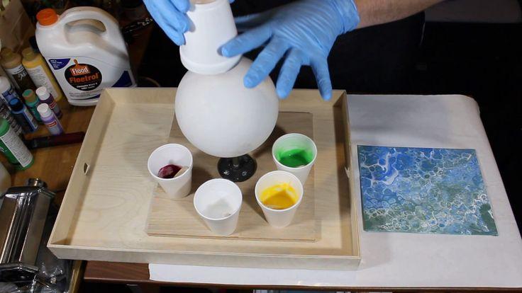 Full 3D Acrylic Pour on Plaster Sphere! - YouTube