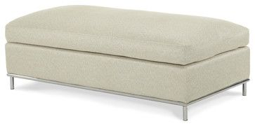 Beverly Blvd Double Chair Ottoman - modern - ottomans and cubes - Carolina Rustica