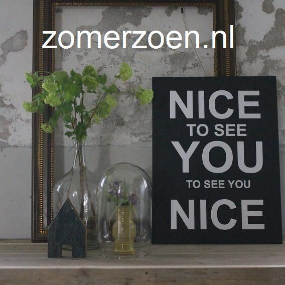 #muurteksten #muursticker #nice to see you #muurdecoratie