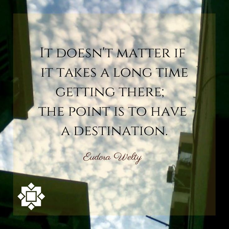 Point of destination.