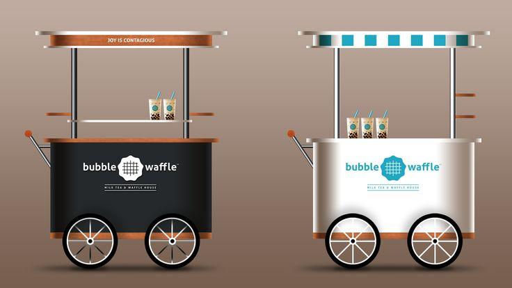 Bubble Waffle Milk Tea Cart Design #bubblewaffle #beesandvultures