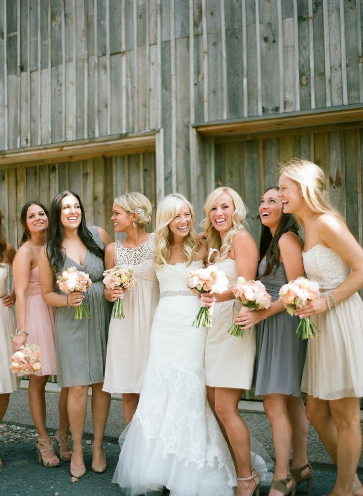 #mismatched #bridesmaid #dresses