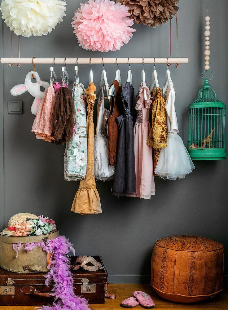 little girls dress up / wardrobe | kids rooms