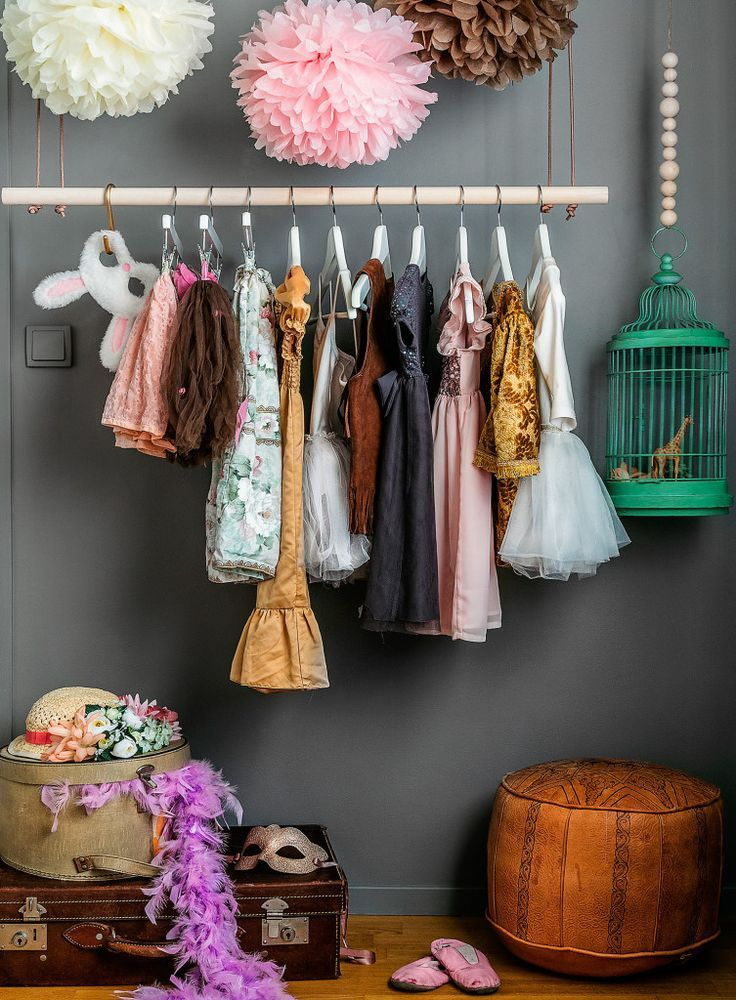 little girls dress up / wardrobe | kids rooms