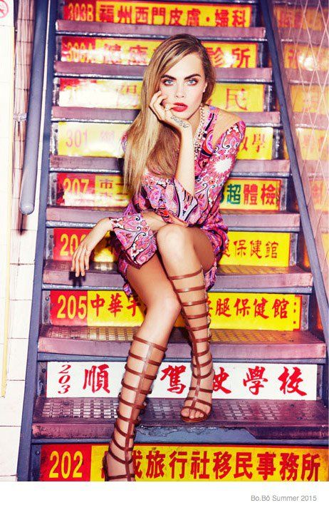 @Caradelevingne - Bo.Bô Spring 2015 Ellen von Unwerth @EllenVUnwerth via @bobonews  for #motion #color
