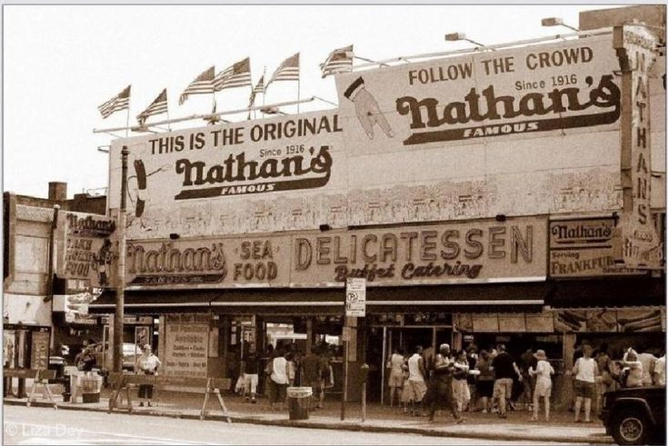 The Original Nathan's Hotdog Stand, on the Boardwalk: Coney Island, NYC. This is where my parents went on their first date.
