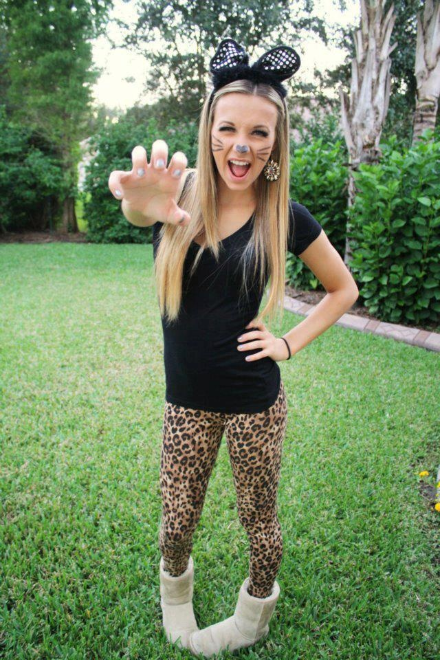find this pin and more on by cat or leopard costume with leggings