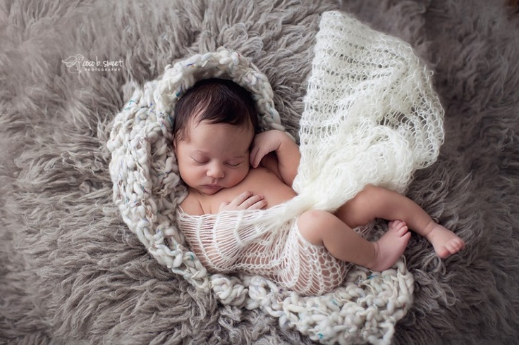 Cream blanket wrap by theKSboutique.com.  Photo by Coco b. Sweet Photography