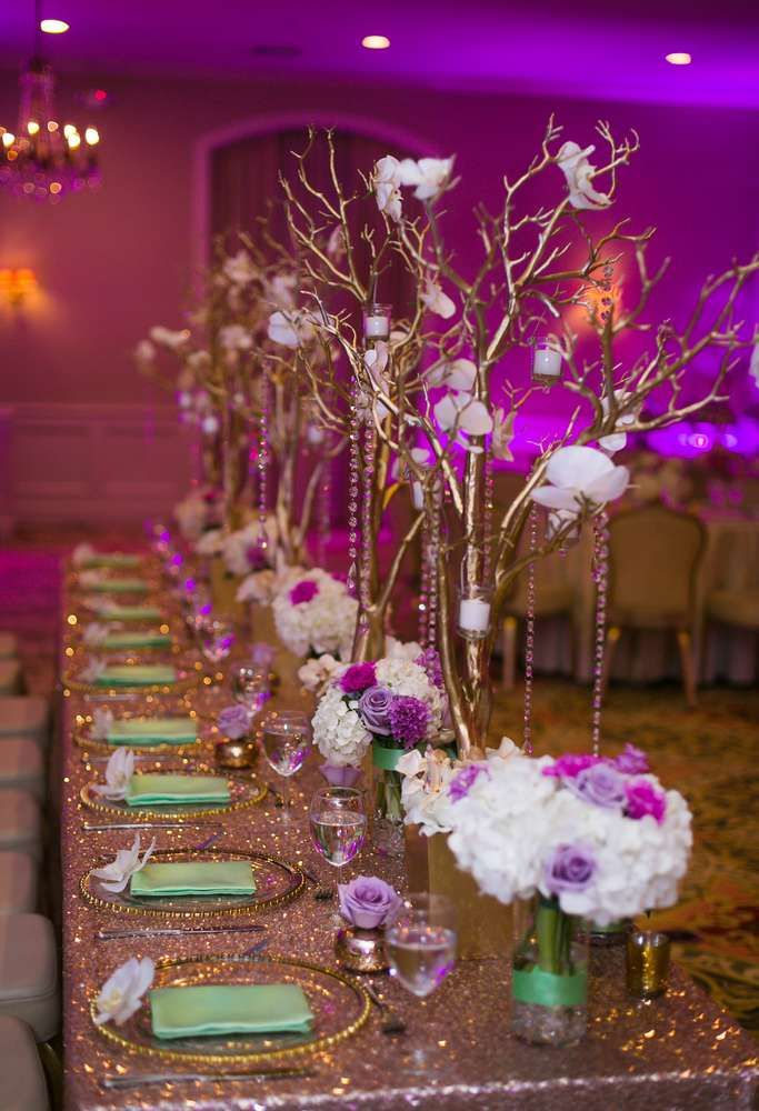 Enchanted Glam Fete Sweet 16 Party Ideas | Photo 1 of 28