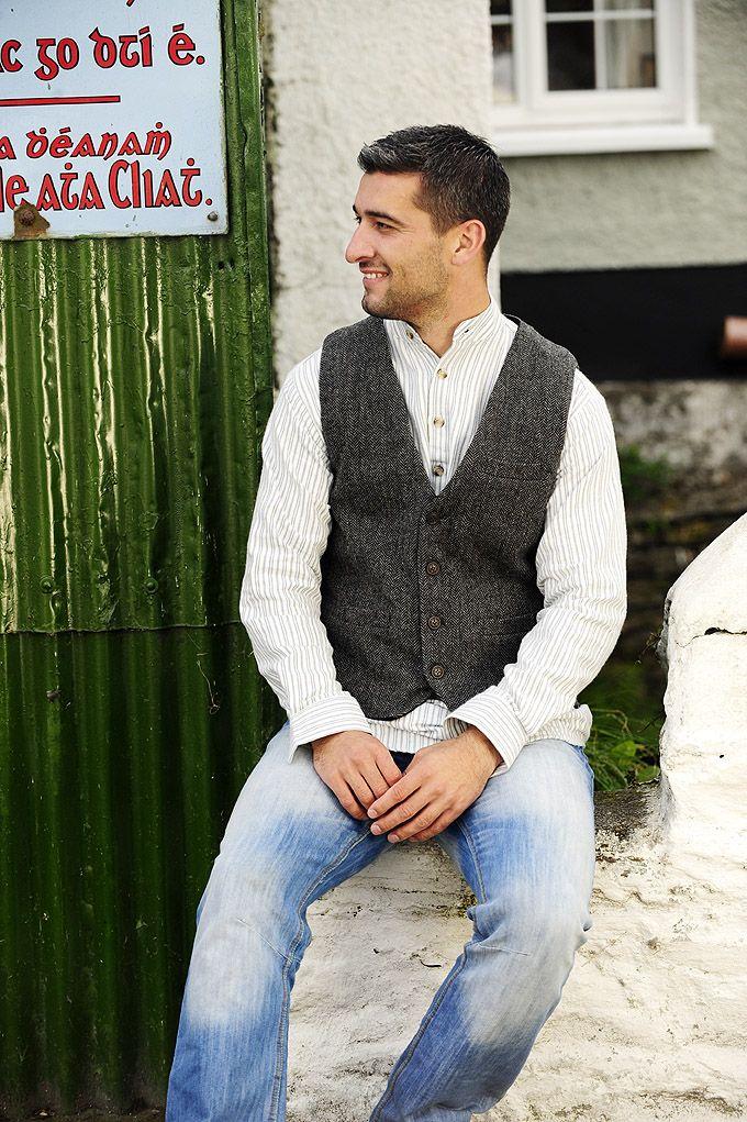Irish Tweed Vest, Tweed Jacket, Men's Outerwear Tweed Vest, Vests for Men | Men's Dress, Field, Denim, and Tweed Vests